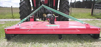 Rear view of Pasture Topper